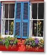 Charleston Windows Metal Print