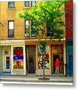 Charlevoix And Notre Dame Little Antique Shops St Henri Art Montreal Street Scene Carole Spandau Metal Print