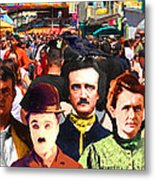 Charlie And Friends Tries To Blend In With The Crowd 5d23867 Metal Print