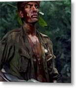 Charlie Sheen In Platoon Metal Print