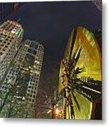 Charlotte Downtown At Night Metal Print