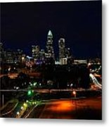 Charlotte Nc At Night Metal Print by Chris Flees