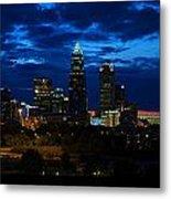 Charlotte North Carolina Panoramic Image Metal Print by Chris Flees