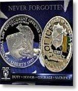 Charlotte Police Memorial Metal Print