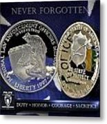 Charlotte Police Memorial Metal Print by Gary Yost
