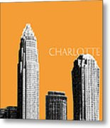 Charlotte Skyline 2 - Orange Metal Print by DB Artist