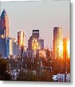 Charlotte Skyline In The Evening Before Sunset Metal Print