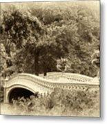 Charm Of Bow Bridge Metal Print