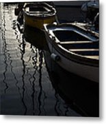 Charming Old Wooden Boats In The Harbor Metal Print
