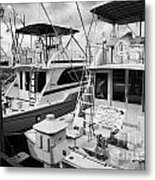 Charter Fishing Boats In The Old Seaport Of Key West Florida Usa Metal Print