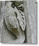 Chartres Cathedral Dragon Metal Print