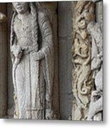 Chartres Cathedral Female Pilgrim Metal Print
