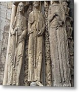 Chartres Cathedral Saints Metal Print
