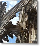Chartres Flying Buttress Metal Print