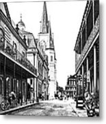 Chartres St In The French Quarter 3 Metal Print