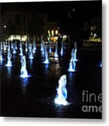 Chartres Street Fountains Metal Print