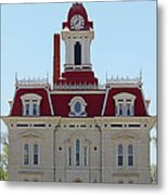 Chase County Courthouse In Kansas Metal Print
