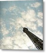 Chasing The Dream Paris Eiffel Tower Metal Print