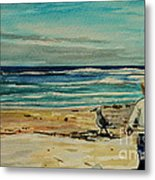 Chasing The Seagull Metal Print