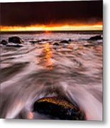 Chasing The Sunset Metal Print by Alexis Birkill
