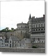 Chateau Ambois Rises Above Its Town Metal Print