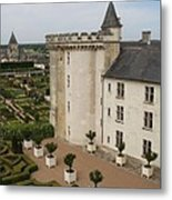 Chateau And Garden - Villandry Metal Print