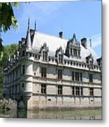 Chateau Azay-le-rideau From The Gardens  Metal Print