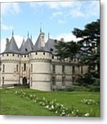 Chateau Chaumont From The Garden  Metal Print