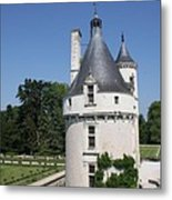 Chateau Chenonceau Tower And Moat Metal Print