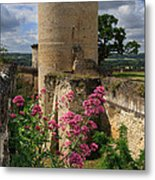 Chateau Chinon In The Loire Valley Metal Print