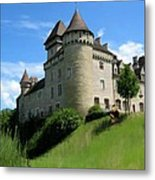 Chateau De Cleron Dans Le Doubs France Metal Print