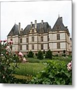 Chateau De Cormatin Garden Metal Print
