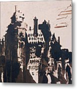 Chateau Fortified By Two Bridges Metal Print by Victor Hugo