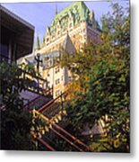 Chateau Frontenac In Quebec Metal Print