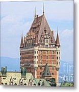 Chateau Frontenac Quebec City Canada Metal Print