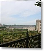 Chateau Vilandry And Garden View Metal Print