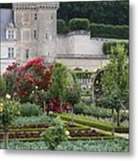 Chateau Villandry And The Cabbage Garden  Metal Print