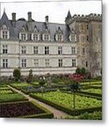 Chateau Villandry - Usefulness And Ornament  Metal Print