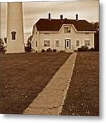 Chatham Lighthouse Metal Print by Skip Willits