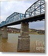 Chattanooga Longest Walking Bridge Metal Print by Kathy  White