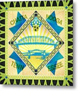 Chattanooga Quilt Square 1 Metal Print