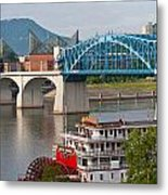 Chattanooga Riverfront Metal Print