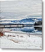 Chatuge Dam Winter Vista Metal Print