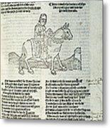 Chaucer: Prologue Metal Print