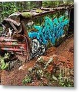 Cheakamus River Train Derailment Metal Print