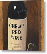 Cheap Red Wine Metal Print