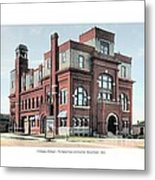 Cheboygan Michigan - Opera House And City Hall - Huron Street - 1905 Metal Print