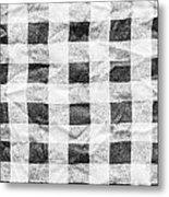 Checked Cloth Metal Print