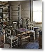 Checker Game Setting In A Back Room No. 3105 Metal Print