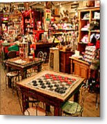 Checkers At Jefferson General Store Metal Print